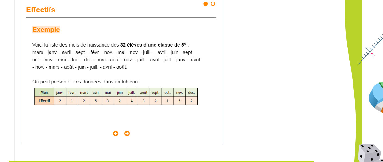 Exemple de cours : maths 5e