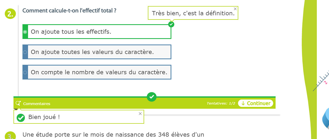Exemple de quiz : maths 5e